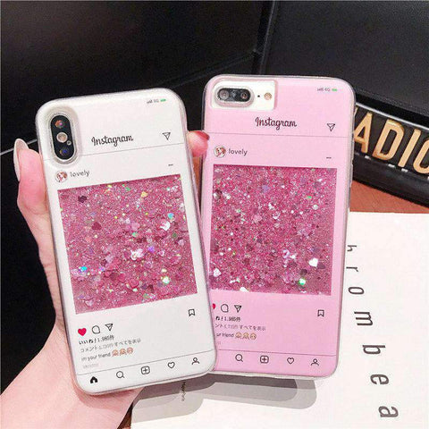 Creative Chat Page Designed Liquid Bling Glitter Samsung Case gallery 3