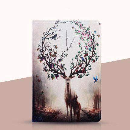 Dreamy Deer Painted Apple iPad Cover Case