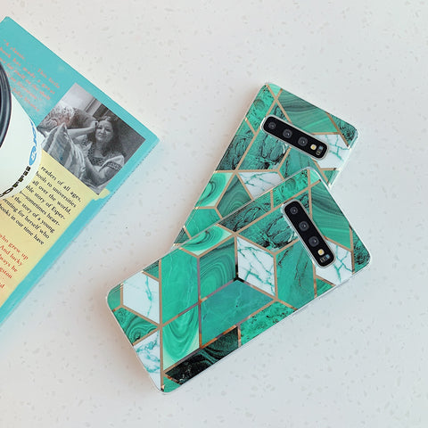 Marble Electroplated Detail Phone Case for Samsung gallery 3
