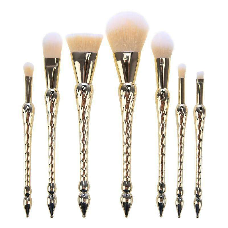 7Pcs Unicorn Horn Shape Handle Make-up Brush Set