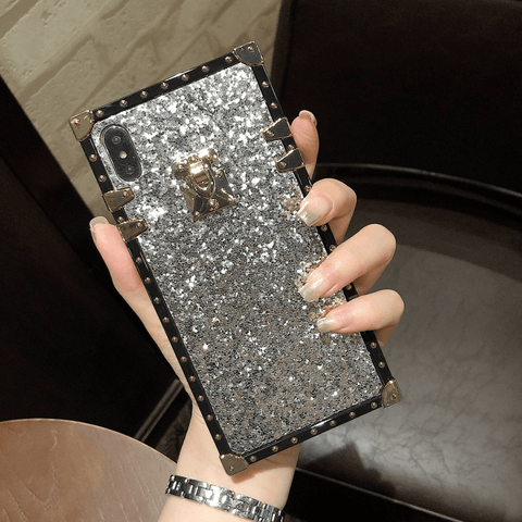 Sparkle Sequins Detail Square Phone Case for Samsung gallery 5