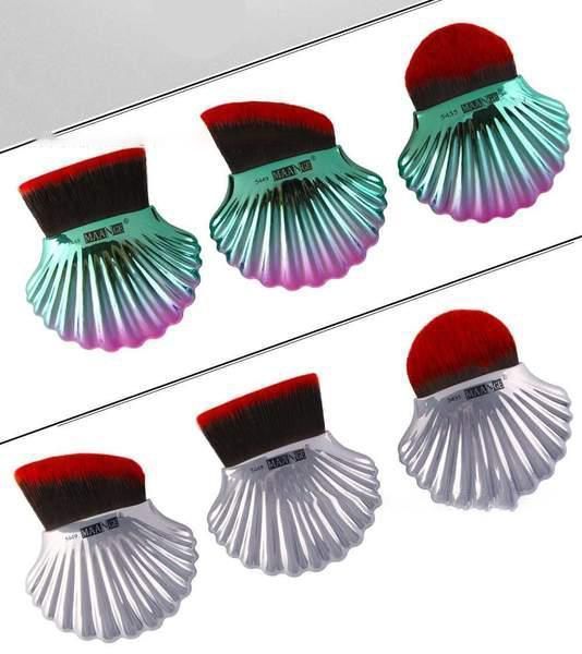 3 Pcs Shell Make-up Brush Set