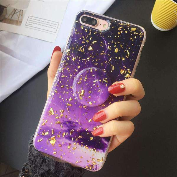 Sparkling iPhone Case with Grip and Stand