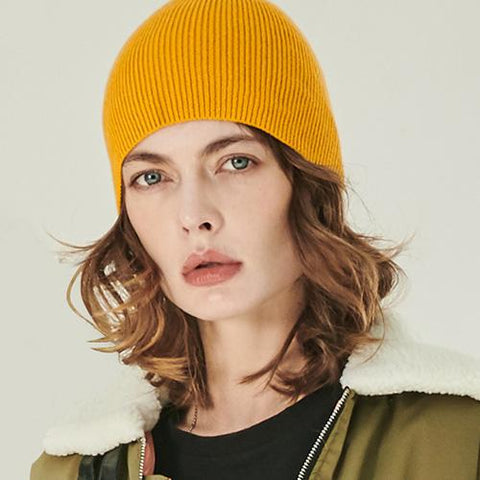 10 Colors Solid Rib Knit Beanie gallery 1