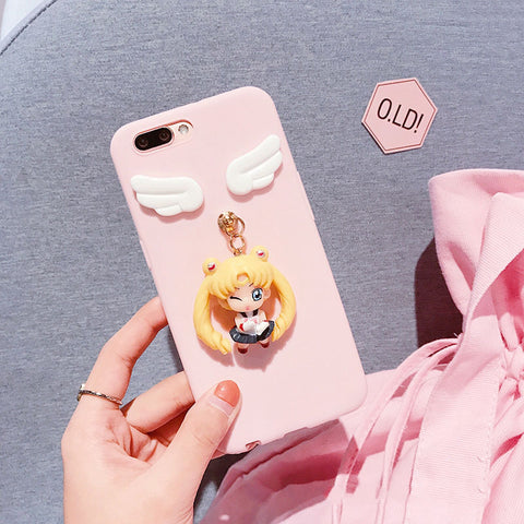 Solid Color Samsung Case with Lovable 3D Girl gallery 5