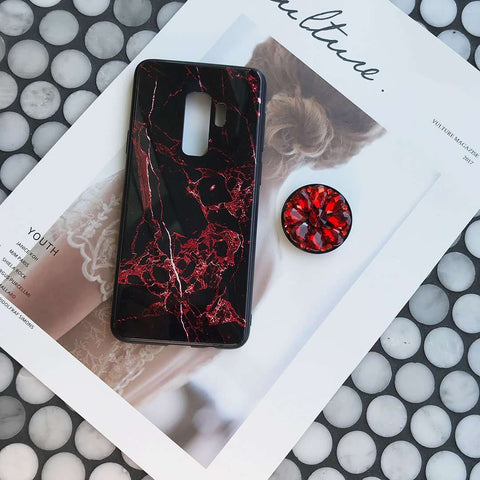 Luxury Marble Pattern Phone Case for Samsung with Phone Holder gallery 2