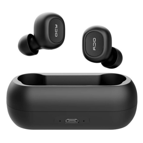 QCY T1 True Wireless Stereo Sound Bluetooth 5.0 Noise Canceling Headphones Sports Headset with Charging Case For All Smart Phones