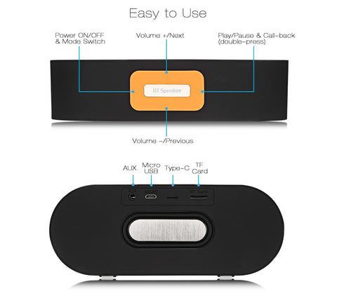 Bluetooth Speaker Portable Wireless Player Dual Driver gallery 12
