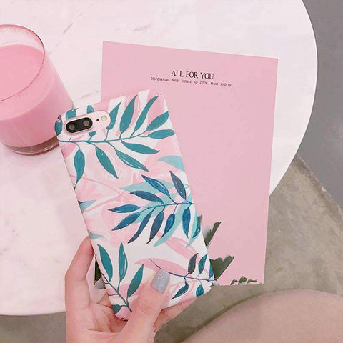 Pink Summer Vibe Leaf iPhone Case gallery 2