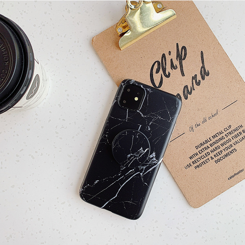 Marble Print Phone Case for Samsung with Phone Holder gallery 2