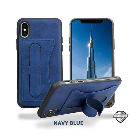 Business Style Samsung Phone Case with Card Holder & Mini Phone Holder gallery 1