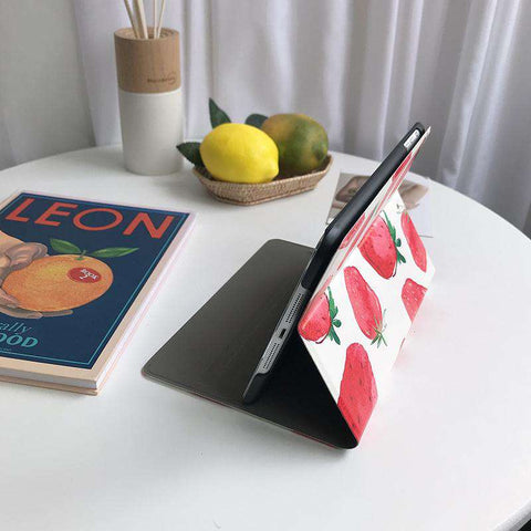 Literary Strawberry Painted Apple iPad Cover Case gallery 4