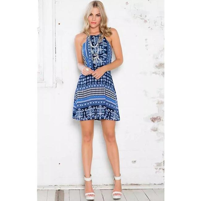 Ethnic Style Embroidery Shift Dress
