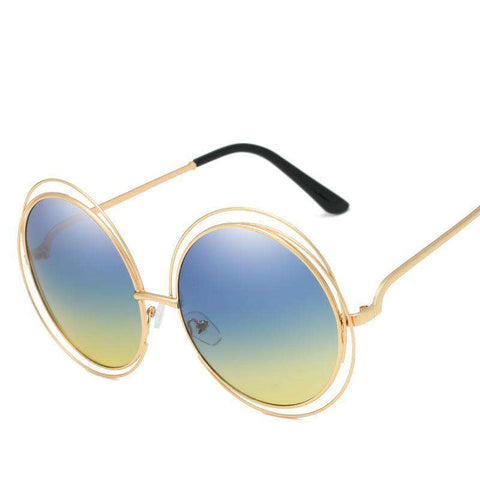 Ombre Double Frame Hollowed Sunglasses gallery 14