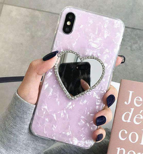 Classic Shell Pattern Samsung Case with Heart Designed Mirror gallery 3