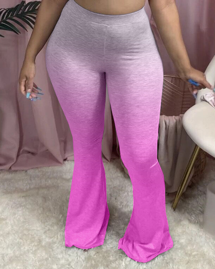 Ombre High Waist Flare Pants gallery 6