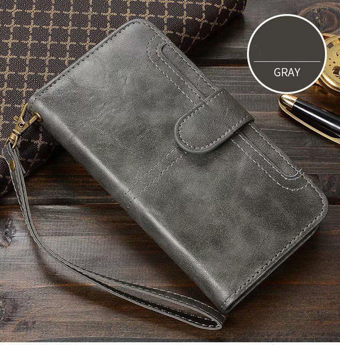 Retro Multi-functional Leather Phone Case for Samsung gallery 1