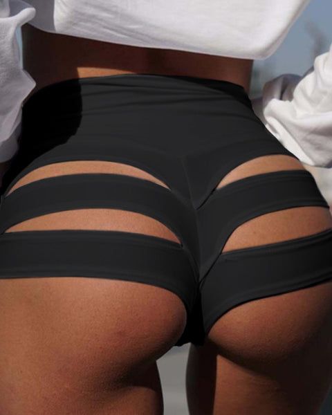 High Waist Hollow Out Back Sports Shorts gallery 3