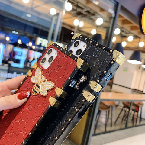 Rivet Trim Metal Bee Deco Square Phone Case for Samsung gallery 10