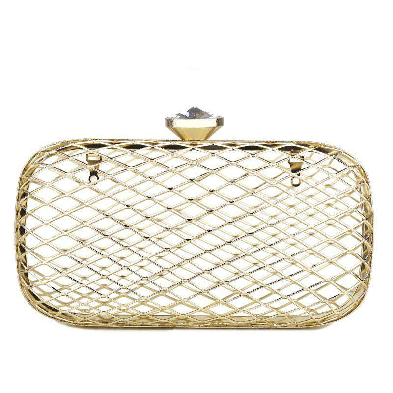Elegant Hollow Out Cage Evening Clutch