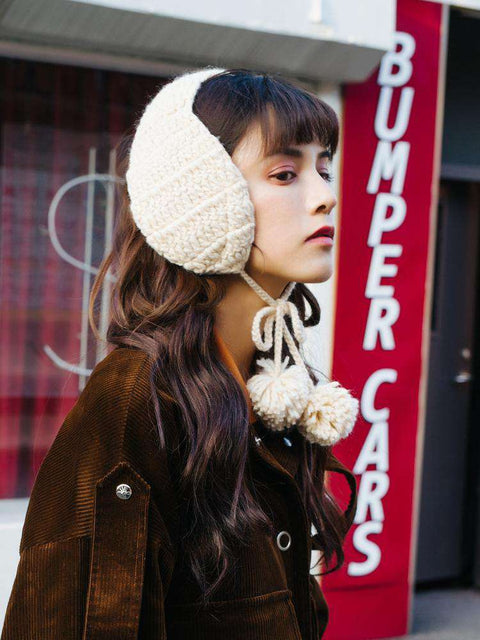 Women's Winter Cute Knitted Thick Ear Hat gallery 1