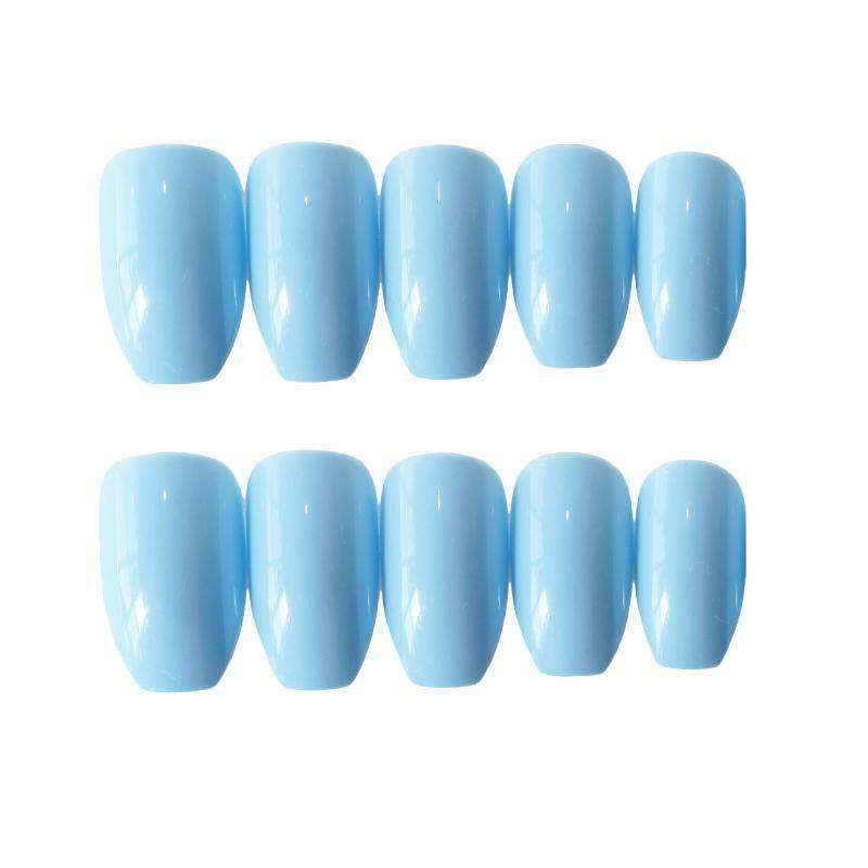 Alice Blue Ballet Slippers Magic Press On Nail Manicure