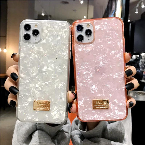 Four Colors Marble Shining Phone Case for Samsung gallery 1