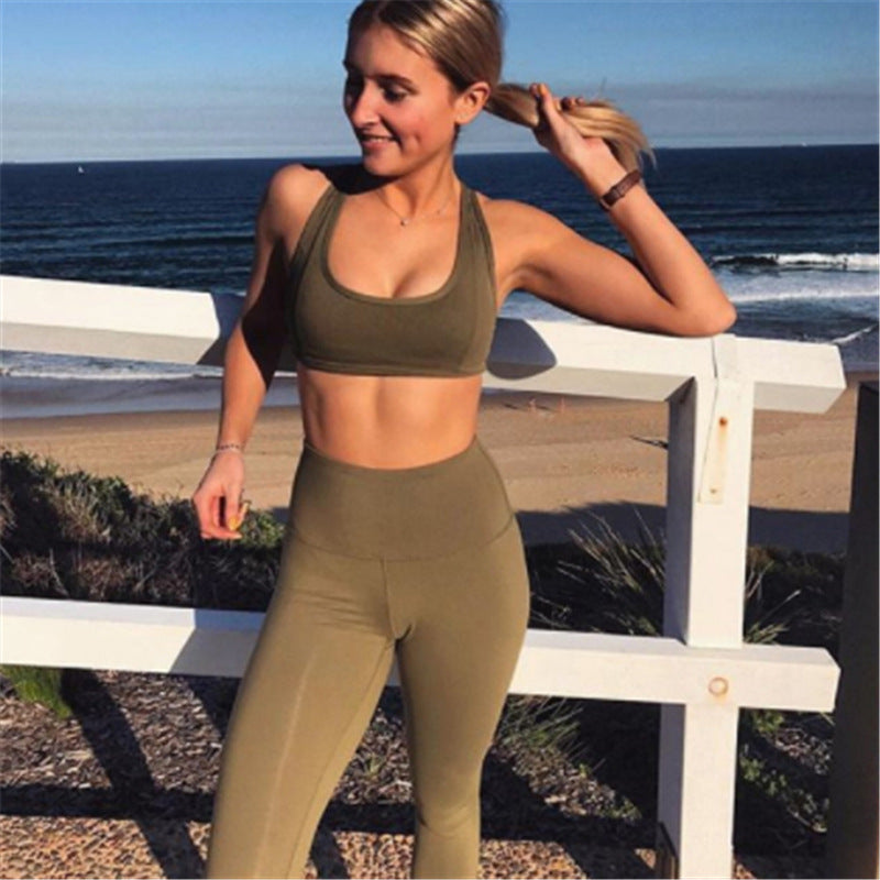 Pure Color Breathable & Quick-drying Yoga Suit Set