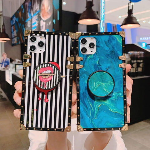Floral Print Phone Case for Samsung with Phone Holder gallery 8