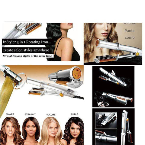 2 in 1 Anion Automatic Hair Curler Straightener gallery 6