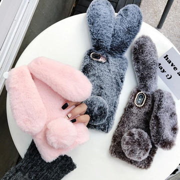 Fluffy Rabbit Phone Case for iPhone