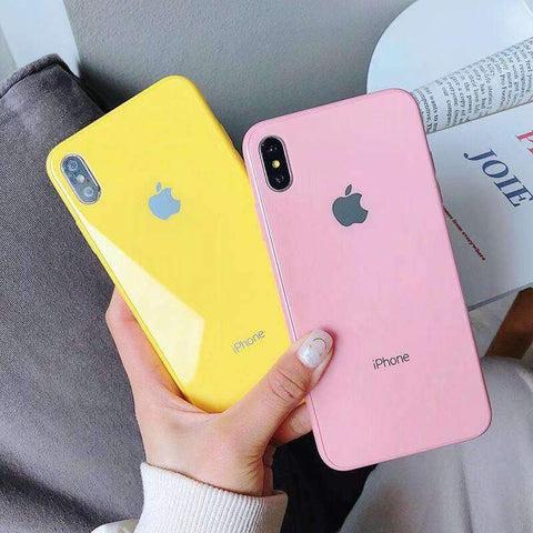 Contracted Pure Candy Color iPhone Case
