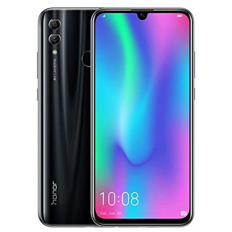 "Huawei Honor 10 lite (32GB + 3GB RAM) 6.21"" FHD 4G LTE GSM Factory Unlocked Smartphone - International Version No Warranty HRY-LX2 (Black) (Renewed)"