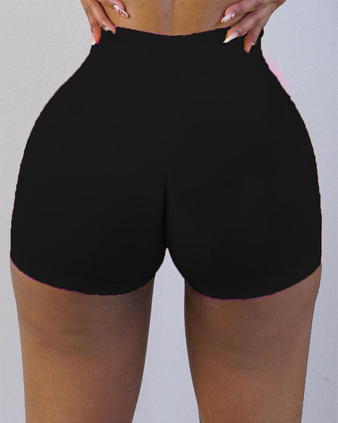 Butt Lifting Solid Shorts