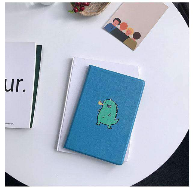 Cute Cartoon Dinosaur Painted Apple iPad Cover Case