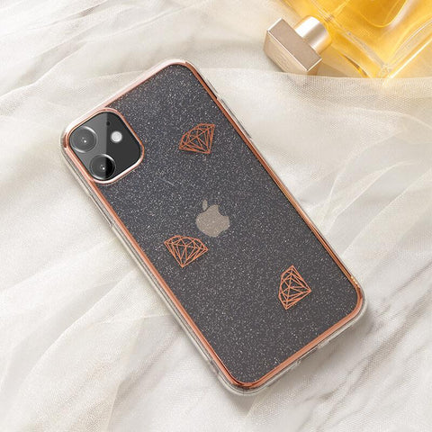 Cute Electroplate Heart/Diamond Pattern Phone Case for Samsung gallery 4