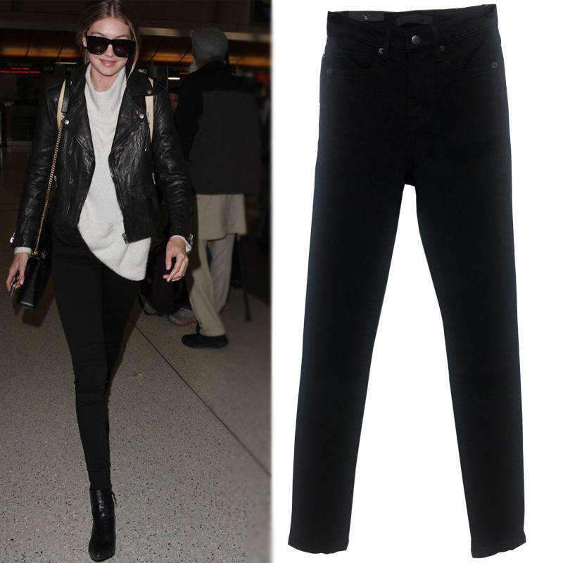 Buy One Get One 50% Off Black High Waist Elastic Jeans