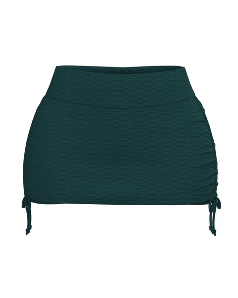 Textured Drawstring Side Sports Skirt gallery 3