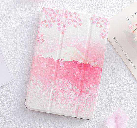 Romantic Cherry Blossoms Apple iPad Cover Case