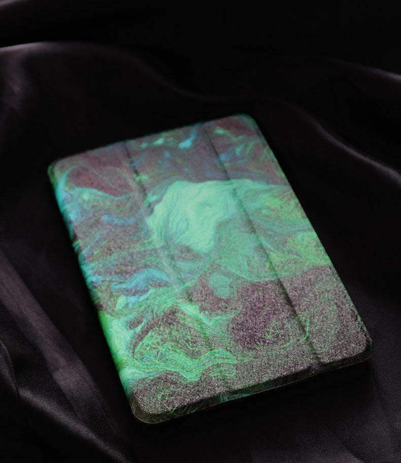 Abstract Green Painting Apple iPad Cover Case
