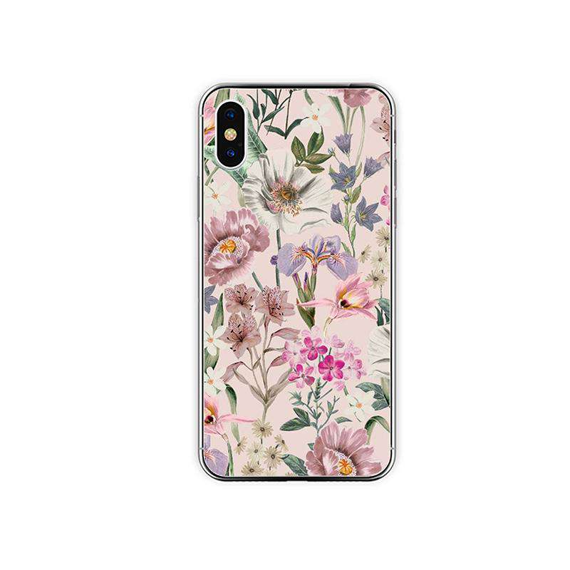 Summer Garden Floral Watercolor Print Phone Case for All iPhone