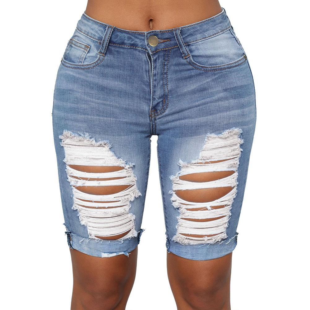 Extreme Ripped Tight Skinny Cycle Denim Jeans