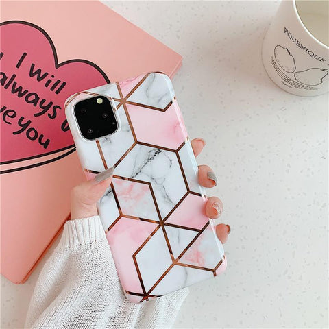 Asymmetric Marble Print Phone Case for Samsung gallery 4