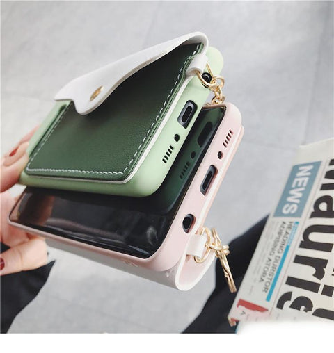Color Patch with Card Purse Phone Case For Samsung gallery 5