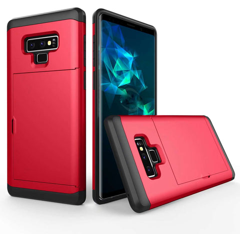 Samsung Galaxy Note 9 Pure Color Creative Phone Case With Card Holder gallery 10