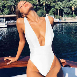 Deep V-Plunge High Leg One-Pieces