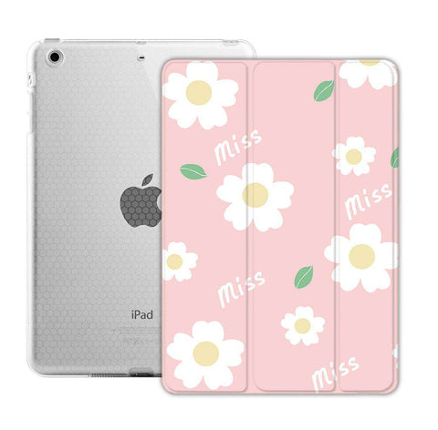 Pink Background Floral Apple iPad Cover Case gallery 2
