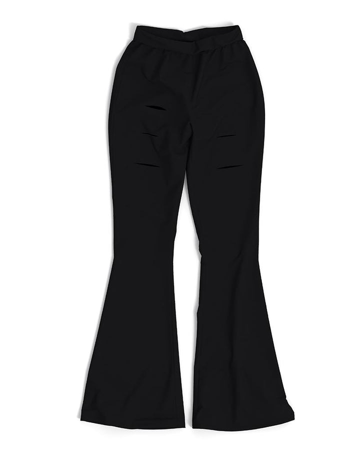 Solid Cut Out High Waist Flare Pants gallery 15