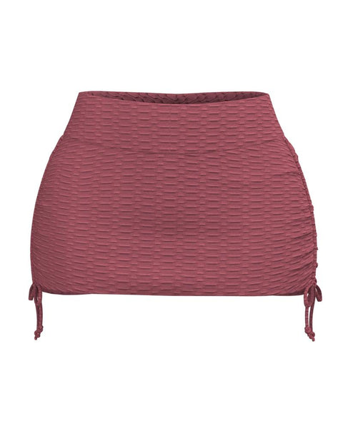 Textured Drawstring Side Sports Skirt gallery 8