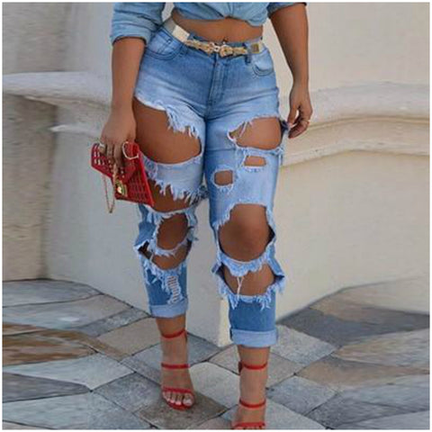 High Rise Distressed Rolled Hem Mom Jeans